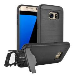 Förbered din Samsung Galaxy S7 Edge för stora utomhusäventyr med det robusta Olixar X-Ranger-skalet. Med ett praktisk kickstand och ett säkert fack för det medföljande multifunktionsverktyget - kan du också lagra ditt bankkort om du vill.