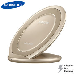 Charge your Samsung Galaxy S8, S8 Plus, S7 Edge, S7 and S6 quickly with the official wireless fast charge stand in gold. Allowing you to charge up to 1.4x faster than traditional wireless chargers, this really is the perfect accessory for your new phone.