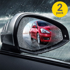 Driving in the worst weather conditions can be dangerous, but thanks to the Olixar Rainproof Nano Protection Film for your car wing mirrors, now you can prevent a possible hazard due to fogged or rainy mirrors. It comes in a twin pack for extra protection