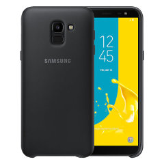 This official black case for the Galaxy J6 2018 from Samsung offers two layers of protection in a sleek, elegant and super-modern form factor. Attractive, straightforward and sturdy, this is the ideal option for protecting your Galaxy J6 2018.