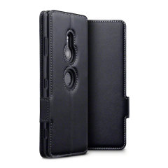The genuine leather wallet case from Olixar offers perfect protection for your Sony Xperia XZ3. Featuring premium stitch finishing, as well as featuring slots for your cards, cash and documents.