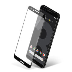 This ultra-thin full cover tempered glass screen protectors for the Google Pixel 3 with black front from Olixar offers toughness, high visibility and sensitivity all in one package.