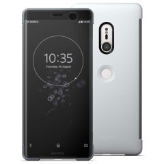 This official SCTH70 Style Cover Touch in grey from Sony houses your Xperia XZ3, providing protection and full functionality through the see-through touchscreen font cover, allowing you to view and action incoming messages and calls.