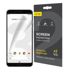 Keep your Google Pixel 3's screen in pristine condition with this Olixar scratch-resistant screen protector 2-in-1 pack.