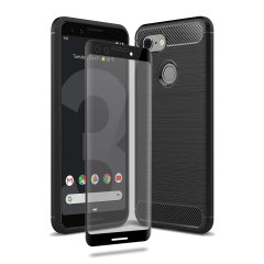 Flexible rugged casing with a premium matte finish non-slip carbon fibre and brushed metal design, the Olixar Sentinel case in black keeps your Google Pixel 3 protected from 360 degrees with the added bonus of a tempered glass screen protector.