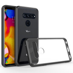 Custom moulded for the LG V40 ThinQ. This black Olixar ExoShield tough case provides a slim fitting stylish design and reinforced corner shock protection against damage, keeping your device looking great at all times.