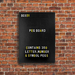 Daily memos are important for everyone so you don't forget what you have to do. This cool peg board allows you to keep track of all the important things going on around you. Leave notes or tasks with these cool lettering's and numbers.