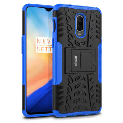Protect your OnePlus 6T from bumps and scrapes with this blue ArmourDillo case from Olixar. Comprised of an inner TPU case and an outer impact-resistant exoskeleton, with a built-in viewing stand.