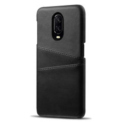 Designed for the OnePlus 6T, this black executive leather-style case from Olixar provides a perfect fit and durable protection against scratches, knocks and drops with the added convenience of 2 RFID protected credit card-sized slots.