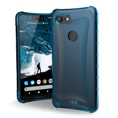 The Urban Armour Gear Plyo semi-transparent tough case in glacier blue for the Google Pixel 3 XL features reinforced Air-Soft corners and an optimised honeycomb structure for superior drop and shock protection.