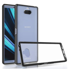 Custom moulded for the Sony Xperia 10, this black / clear Olixar ExoShield tough case provides a slim fitting, stylish design and reinforced corner protection against shock damage, keeping your device looking great at all times.