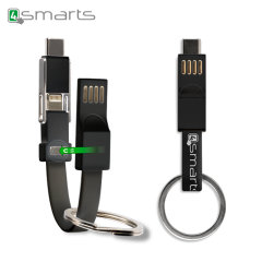 The 3-in-1 Mini KeyRing from 4smarts combines Lightning, USB-C and Micro USB connectors into a compact cable with a magnet closure.