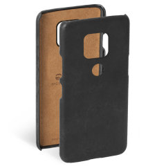 Krusell's Sunne cover in black combines Nordic chic with Krusell's values of sustainable manufacturing for the socially-aware Huawei Mate 20 owner who wants an elegant genuine leather accessory.