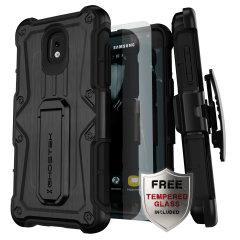 La coque Ghostek Iron Armor en coloris noir assure une protection de haut niveau à votre Samsung Galaxy J3 2018. Robuste et élégante, elle comprend également un astucieux clip ceinture amovible afin de faciliter le transport de votre smartphone.