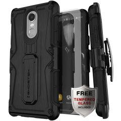 La coque Ghostek Iron Armor en coloris noir assure une protection de haut niveau à votre Samsung Galaxy J7 2018. Robuste et élégante, elle comprend également un astucieux clip ceinture amovible afin de faciliter le transport de votre smartphone.