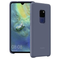 Official Huawei Mate 20 Silicone Case - Blue