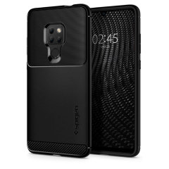 Meet the newly designed rugged armor case for the Huawei Mate 20. Made from flexible, rugged TPU and featuring a mechanical design, including a carbon fibre texture, the rugged armor tough case in black keeps your phone safe and slim.