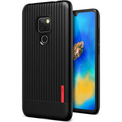 Protect your Huawei Mate 20 with this precisely designed and durable case from VRS Design. Made with sturdy, yet flexible premium material, this black polycarbonate hardshell features a slim design with precise cut-outs for your phone's ports.