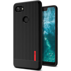 Protect your Google Pixel 3 XL with this precisely designed and durable case from VRS Design. Made with sturdy, yet flexible premium material, this black polycarbonate hardshell features a slim design with precise cut-outs for your phone's ports.