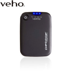 Veho Pebble Verto 3700mAh Portable Powerbank for Smartphones - Grey