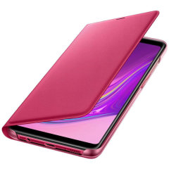 Protect your Samsung Galaxy A9 2018's back, sides and screen from harm while keeping your most vital cards close to hand with the official flip wallet cover in Pink from Samsung.