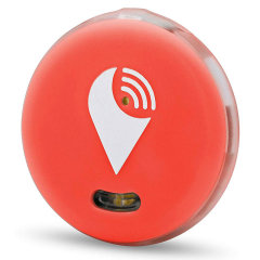 Keep your phone, wallet, bag and keys safe by your side in the secure knowledge you will hear an audible alarm if you stray too far away from your device or someone removes your valuables with the TrackR Pixel Bluetooth in red.