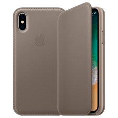 Diese offizielle Premium-Leder-Folio-Hülle für das iPhone XS in taupe von Apple bietet erstklassigen Schutz, während sie luxuriös aussieht und sich anfühlt. Diese von Apple entworfene und hergestellte Tasche passt perfekt zu Ihrem iPhone und ergänzt die Gesamtästhetik.