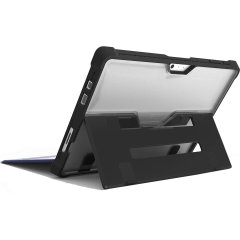 The DUX Surface Case in black keeps your Microsoft Surface Pro 6, protected with a lightweight, but highly protective TPU and polycarbonate construction which protects it from inadvertent drops.