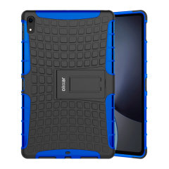 Protect your Apple iPad Pro 12.9 2018 from bumps and scrapes with this blue ArmourDillo case. Comprised of an inner TPU case and an outer impact-resistant exoskeleton, the ArmourDillo provides robust protection and supreme styling.