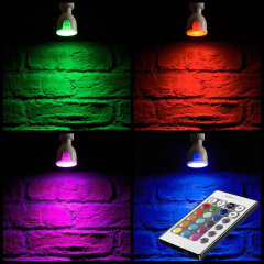 Transform any room and change the ambience with this colour changing LED bulb. With the provided remote control, choosing from a range of colours and programs is made quick and easy.