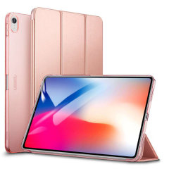 Protect your iPad Pro 12.9 2018 with this functional rose gold case from ESR with a built-in viewing stand. Also features smart sleep / wake functionality.