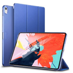 Protect your iPad Pro 12.9 2018 with this functional blue case from ESR with a built-in viewing stand. Also features smart sleep / wake functionality.