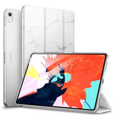 Protect your iPad Pro 11 Inch 2018 with this functional marble white case from ESR with a built-in viewing stand. Also features smart sleep / wake functionality.