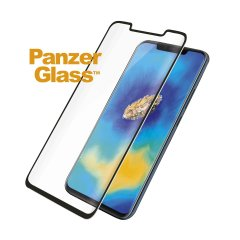 Introducing the premium range PanzerGlass glass screen protector in black. Designed to be shock and scratch resistant, PanzerGlass offers the ultimate protection, while also matching the colour of your stunning Huawei Mate 20 Pro.