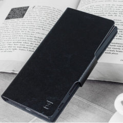 Protect your Sony Xperia 10 Plus with this durable and stylish black leather-style wallet case by Olixar. What's more, this case transforms into a handy stand to view media.