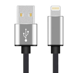 Make sure your Lightning devices are always fully charged with the Techplus MFi Lightning Cable to USB Cable in Silver for Apple Lightning compatible devices. This cable is certified MFi by Apple for use with their products. 1 Metre length.