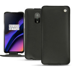Keep your OnePlus 6T well protected from damage with this high quality, beautifully hand-crafted genuine black leather Perpetuelle flip case from Noreve. The perfect blend of premium style and functionality.