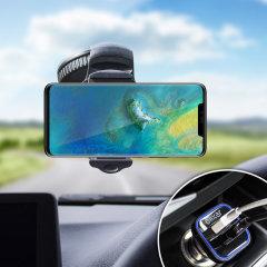 Houd je telefoon veilig in je auto met deze volledig verstelbare DriveTime-autohouder voor je Huawei Mate 20 Pro.