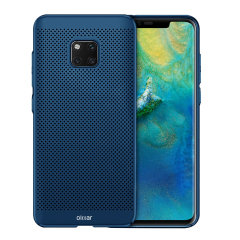 A supremely precision engineered lightweight slimline case in blue with a perforated mesh pattern that looks great, adds grip and aids heat dissipation from your Huawei Mate 20 Pro, as well as enhance the high performance beauty of the device.