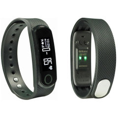 The Q-Band Fitness tracker, monitors your heart rate, captures steps, burned calories, elevation climbed and distance traveled. Syncing to your smartphone or tablet, you will discover your data put into perspective.