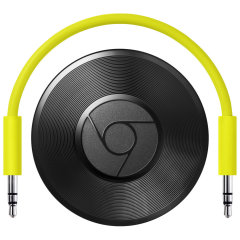 Transmita música do seu smartphone, tablet ou laptop para os alto-falantes com o Chromecast Audio do Google.