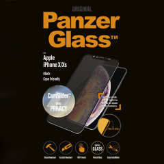 Introducing the PanzerGlass glass case friendly CamSlider screen protector with privacy filter. Designed to be shock resistant and scratch resistant, PanzerGlass offers ultimate protection for your iPhone X/XS display.