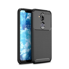 Olixar Carbon Fibre case is a perfect choice for those who need both the looks and protection! A flexible TPU material is paired with an eye-catching carbon print to make sure your Nokia 8.1 is well-protected and looks good in any setting.