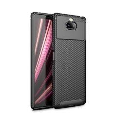 Robuste, souple et dotée d'une superbe finition en coloris noir et un look métal brossé, la coque Olixar effet fibre de carbone assure une protection et un look exceptionnel à votre Sony Xperia 10.