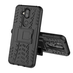 Protect your Nokia 8.1 from bumps and scrapes with this black ArmourDillo case. Comprised of an inner TPU case and an outer impact-resistant exoskeleton, the Armourdillo not only offers sturdy and robust protection, but also a sleek modern styling.