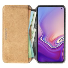Krusell's Broby 4 Card Slim Wallet leather case in Cognac combines Nordic chic with Krusell's values of sustainable manufacturing for the socially-aware Samsung Galaxy S10e owner who seeks 360° protection with extra storage for cash and cards.