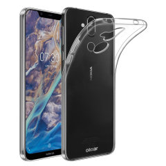 This transparent ultra-thin gel case by Olixar provides a slim fit while still providing protection for your Nokia 8.1. The gel material provides extra grip, while also featuring a raised bezel to help protect your phone's screen.