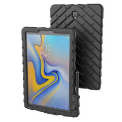 Das DropTech Case in schwarz von Gumdrop für das Samsung Galaxy Tab S4 verfügt über verstärkte Gummipuffer, mit denen Sie Ihre wertvolle neue Tab S4 jederzeit sicher und geschützt aufbewahren können.