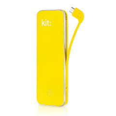 Portable and compact, the Kit Power Bar in yellow is perfect for charging your device on the go. You'll be able to use your smartphone or any other USB charging device for even longer thanks to this incredibly practical 4,500mAh portable charger.