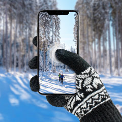 These unisex Gloves allow you to operate your touchscreen device while wearing gloves, so you have full use of your smartphone or tablet outside and still keep your hands warm.